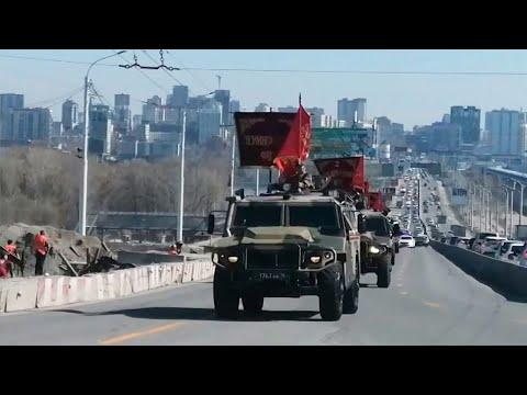В Новосибирске прошла первая совместная тренировка Парада Победы