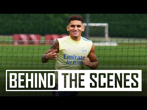 😍 Torreira is back in training!   Behind the scenes at Arsenal training centre