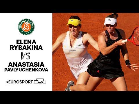 Rybakina vs Pavlyuchenkova   2021 Roland Garros   Quarter-Final Highlights   Tennis   Eurosport