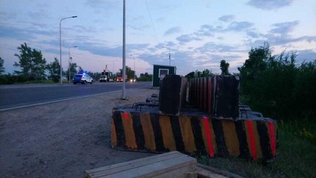 На автодорогах Акмолинской области установлено 11 блокпостов
