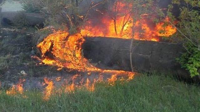 Сразу 4 случая возгорания изоляции теплотрассы зафиксированы за сутки в Костанайской области