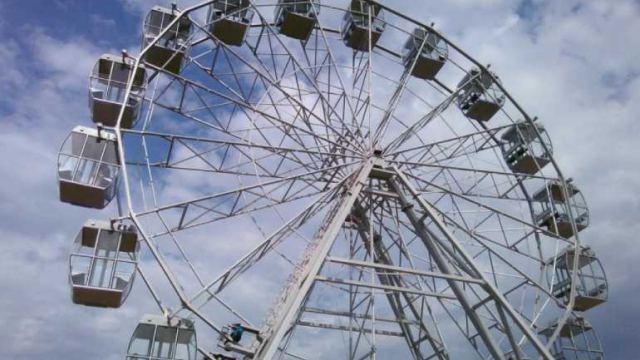 Скандальное колесо обозрения в Рудном демонтируют за бюджетные деньги