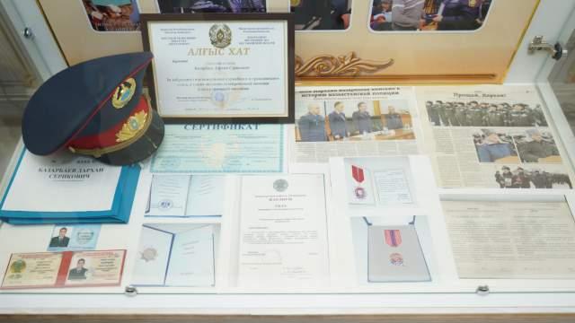 Уголок мужества открыли в музее департамента полиции Костанайской области