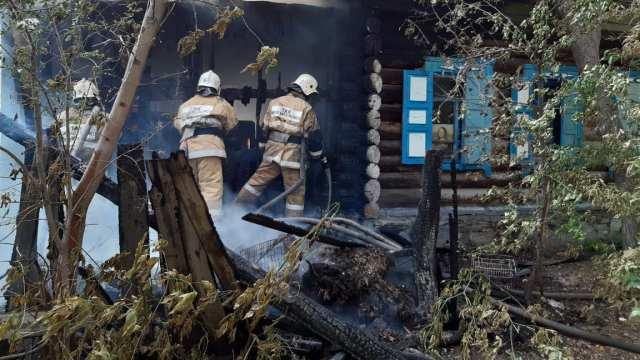 В Костанае произошёл пожар в жилом доме