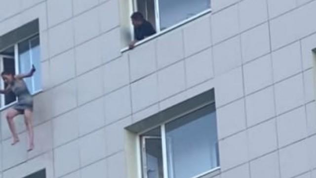 Видео: Парень и девушка выбросились из окна в Казахстане…