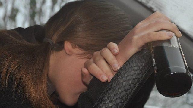 В Кокшетау пьяная автоледи оскорбляла полицейского