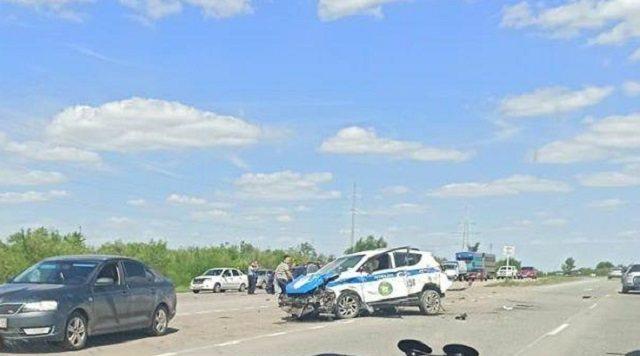 Видео смертельного ДТП с участием патрульной машины Костаная обнародовала полиция