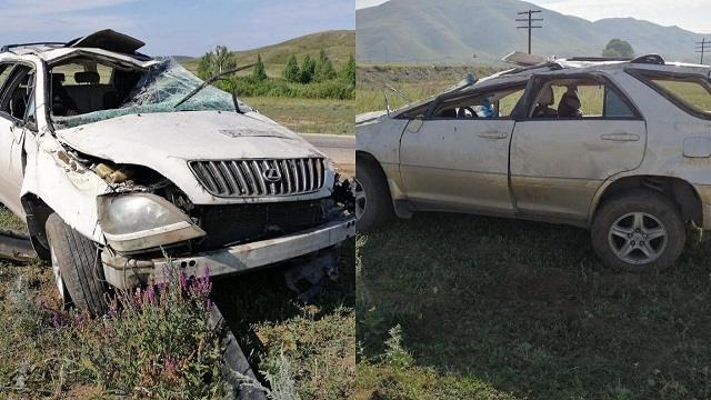 ДТП в ВКО: Lexus опрокинулся на трассе