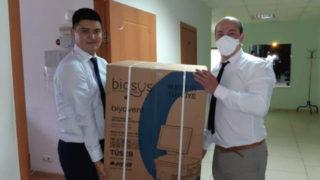 Гуманитарная помощь: Аппараты ИВЛ из Турции отправят в отдалённые районы Костанайской области