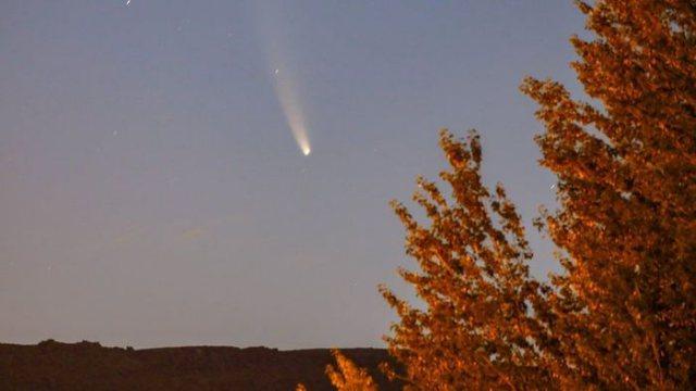 Житель Костаная запечатлел приближение кометы Неовайз