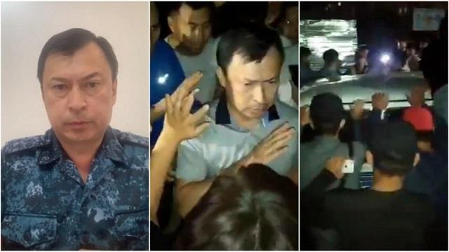 Нападение на начальника полиции Жезказгана во время беспорядков попало на видео