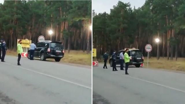 «По звонку»: Пропустившие джип через блокпост полицейские попали на видео