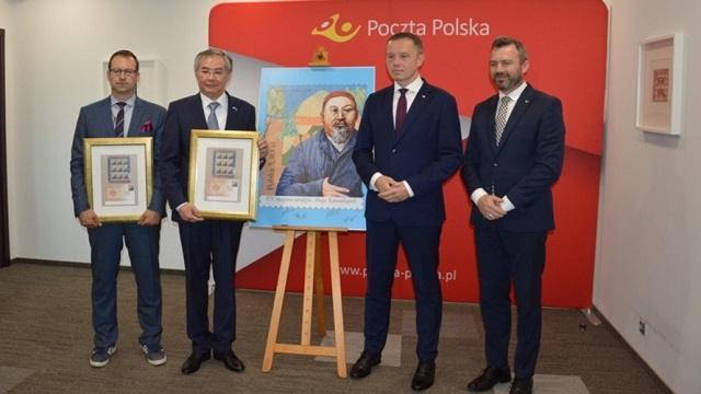 Марку с изображением Абая выпустили в Польше