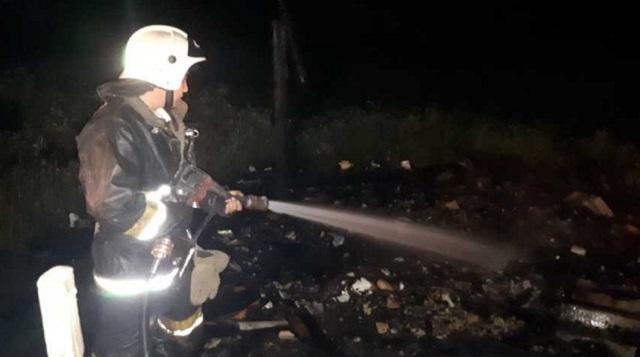 В ходе тушения пожара в Лисаковске обнаружен труп мужчины