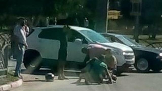 ДТП в Костанае: Скутер столкнулся с Мерседесом