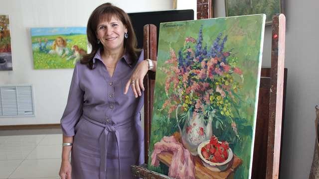 «Мотивы вдохновения»: В Костанае открывают выставку художницы Ларисы Дмитриевой из Рудного
