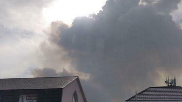 «Говорят, лесопосадки горят»: Между Костанаем и Рудным замечены огромные клубы дыма