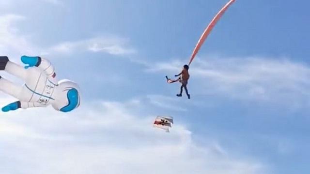 Воздушный змей унес маленькую девочку на Тайване