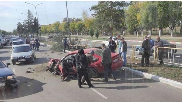 ДТП в Рудном: столкнулись две иномарки