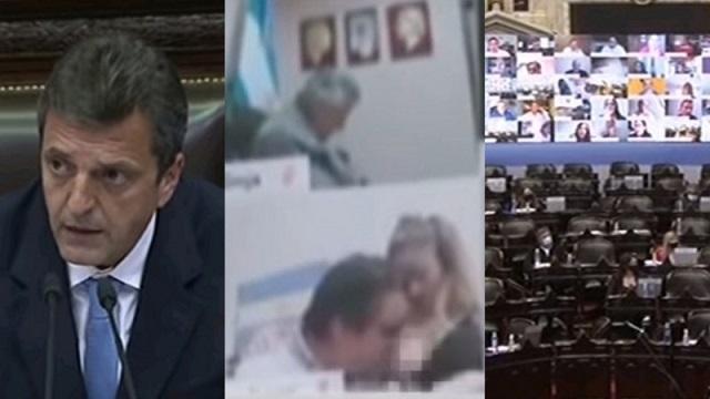 Аргентинский депутат поцеловал грудь сидевшей рядом женщины в прямом эфире