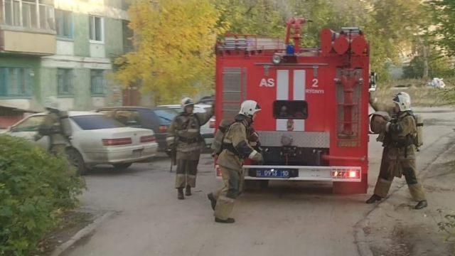 Пожар в Рудном. Из жилого дома эвакуированы шесть человек