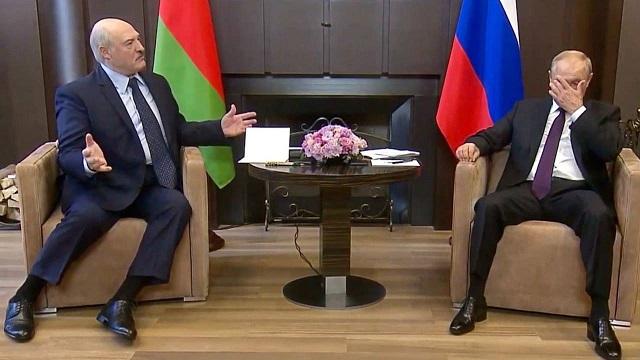 Встреча Лукашенко и Путина стала мемом
