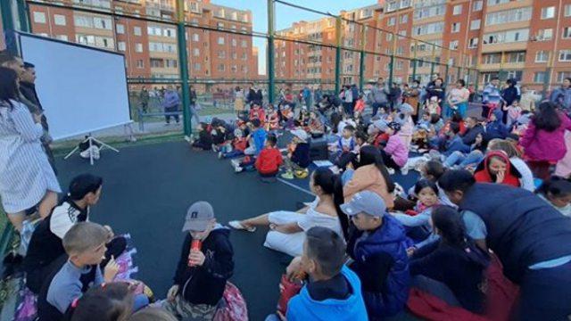 Кино под открытым небом показали в Костанае