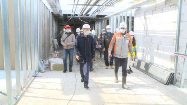 Строительство больницы для больных коронавирусом в Костанае близится к завершению