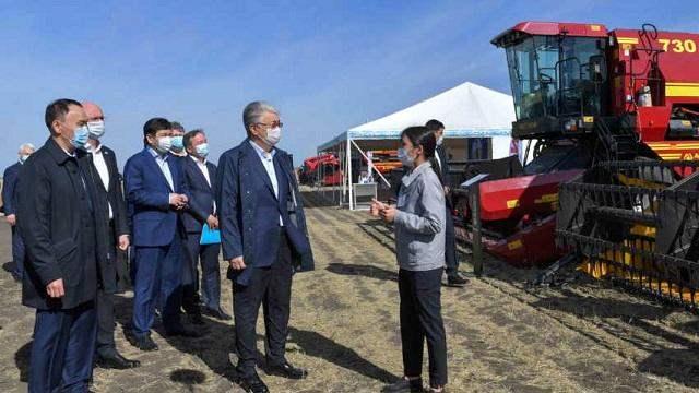 Касым-Жомарт Токаев встретился с фермерами Костанайской области