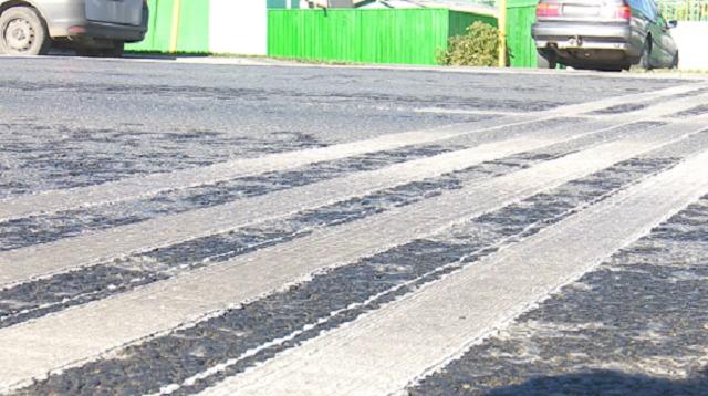 Шумовые полосы появились на одной из улиц Костаная