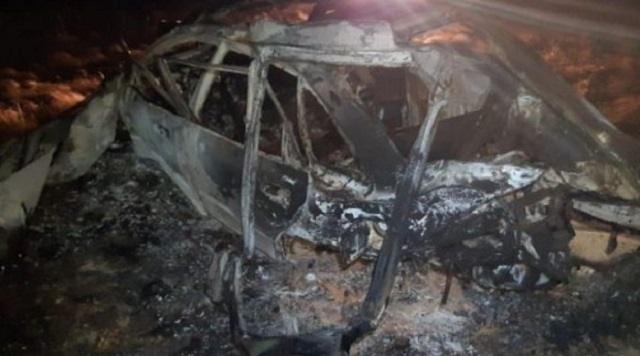 От автомобиля ничего не осталось: Два человека погибли в Акмолинской области