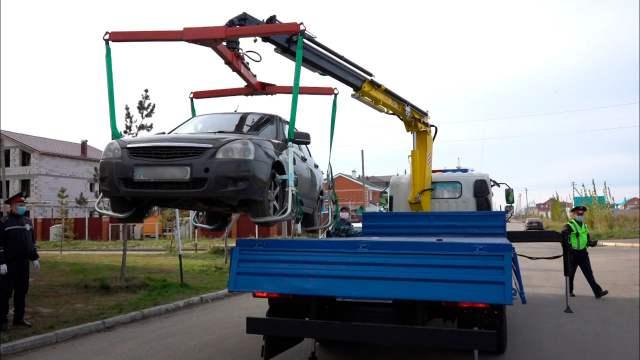 «Береги автомобиль!» В Костанае появился новый эвакуатор