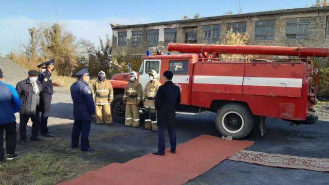 Очередное село обзавелось пожарным постом в Костанайской области