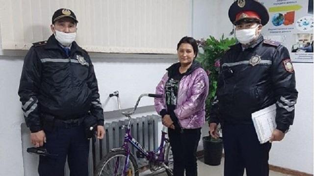 Полицейские Костаная нашли похитителя велосипеда за 40 минут