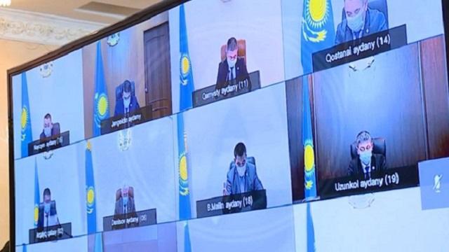 Видео: Главы районов отчитались акиму Костанайской области о ситуации с коронавирусом