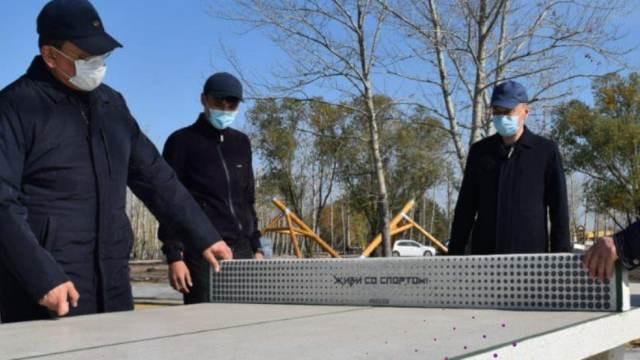 Антивандальные теннисные столы поставили в Костанае
