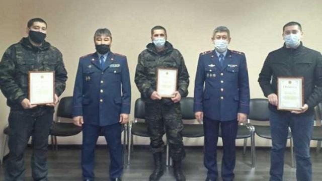 В Костанае наградили сотрудников частной охранной структуры