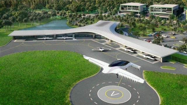 Первый центр летающих такси будет построен в 2025 году