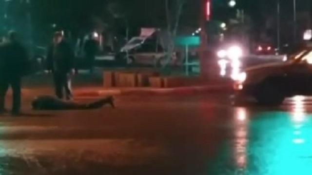 Видео: В Костанае пешеход попал под колеса иномарки