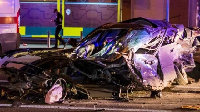 «Разорвало на части»: Момент аварии с пятью авто попал на видео