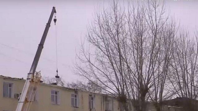 Видео: После пожара восстанавливают районную больницу в Костанайской области