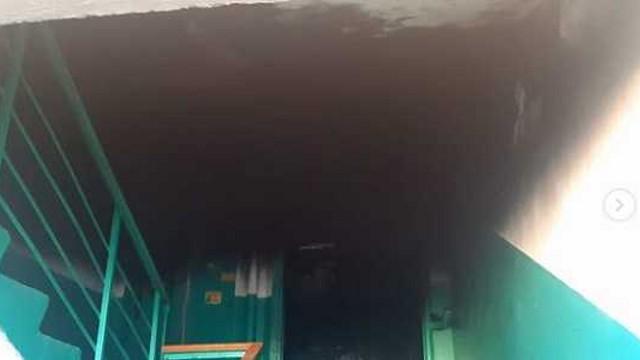 Малосемейное общежитие горело в Костанае