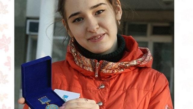 Студентка из Костаная получила медаль за доброту