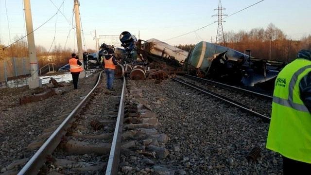 Страшная авария на железнодорожных путях в Коврово