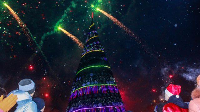 Когда состоится торжественное зажжение новогодней ели в Костанае?