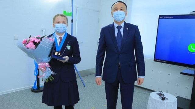 Ученица НИШ Костаная награждена «Медалью Елбасы»