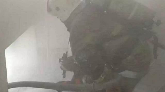 Видео: Два пожара потушили огнеборцы в Рудном