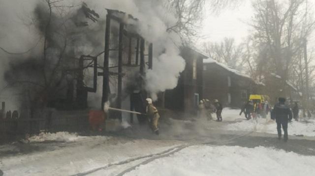 Пожар в Усть-Каменогорске: Есть пострадавшие