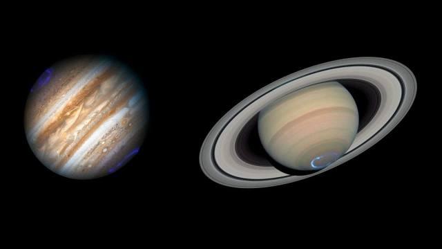 В полночь с 21 на 22 декабря произойдет соединение Юпитера и Сатурна