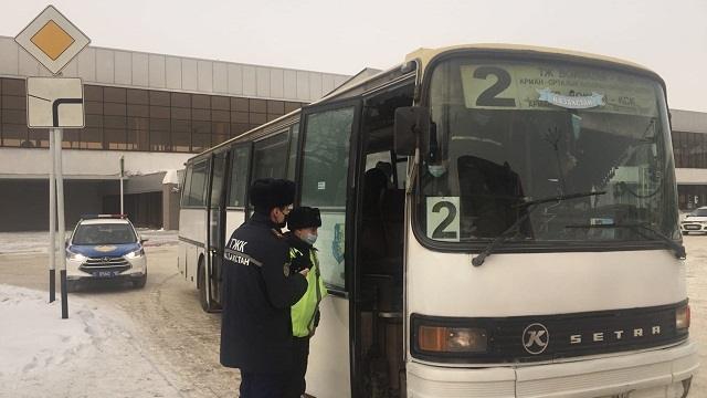 Сколько нарушений выявлено в Костанае за время ОПМ «Автобус»